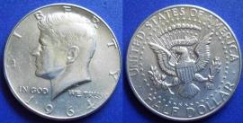 1964 50C Kennedy Half Dollar Silver Half Raw