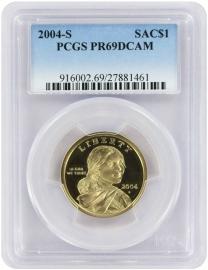 2004-S Sacagawea Dollar PR69DCAM PCGS Proof 69 Deep Cameo