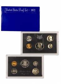 1972 1/2 Dollar Coin to 1 penny Proof Set