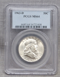 1963-D PCGS MS64 Franklin Half Dollar