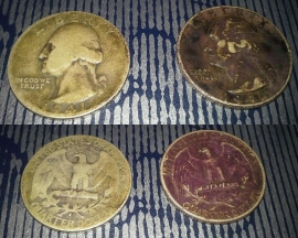 1941-S Washington Quarter and 1941 Washington Quarter