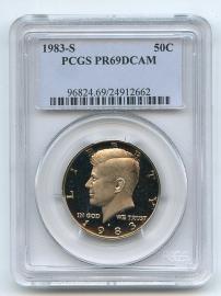 1983 S 50C Kennedy Half Dollar Proof PCGS PR69DCAM