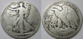 1927-S 50C Silver Walking Liberty Half Dollar FREE Shipping