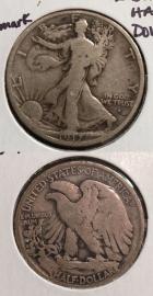 1917-S U.S. Walking Liberty Half Dollar ~Silver~S Obverse