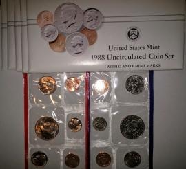 1988 P & D US Mint Uncirculated Coin Sets