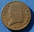 *NICE LOOKING 1828 HALF CENT CLASSIC HEAD