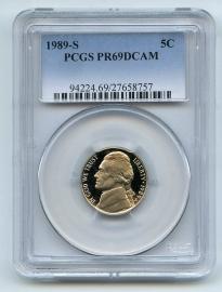 1989 PCGS PR69DCAM Jefferson Nickel